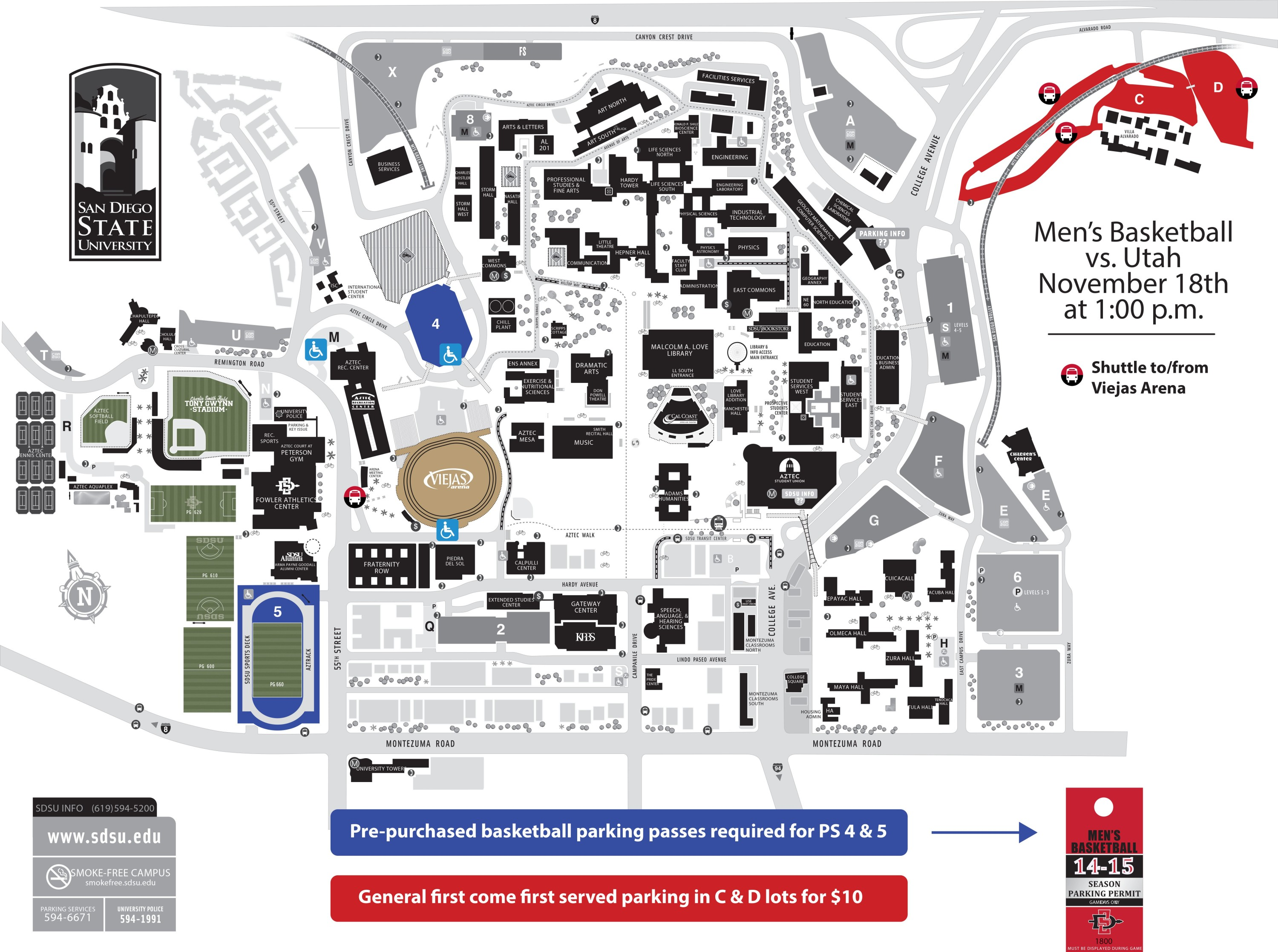 AztecMBB-Utah Parking Information - SDSU Athletics on txst map, mesa college map, csu san marcos map, ssu map, north park map, claremont map, wright state university campus map, san francisco state university campus map, west chester university campus map, uc riverside map, northwestern map, long beach city college map, north dakota state university campus map, sjsu map, san diego map, usfca map, wcu map, usd map, ndsu map, texas a&m map,