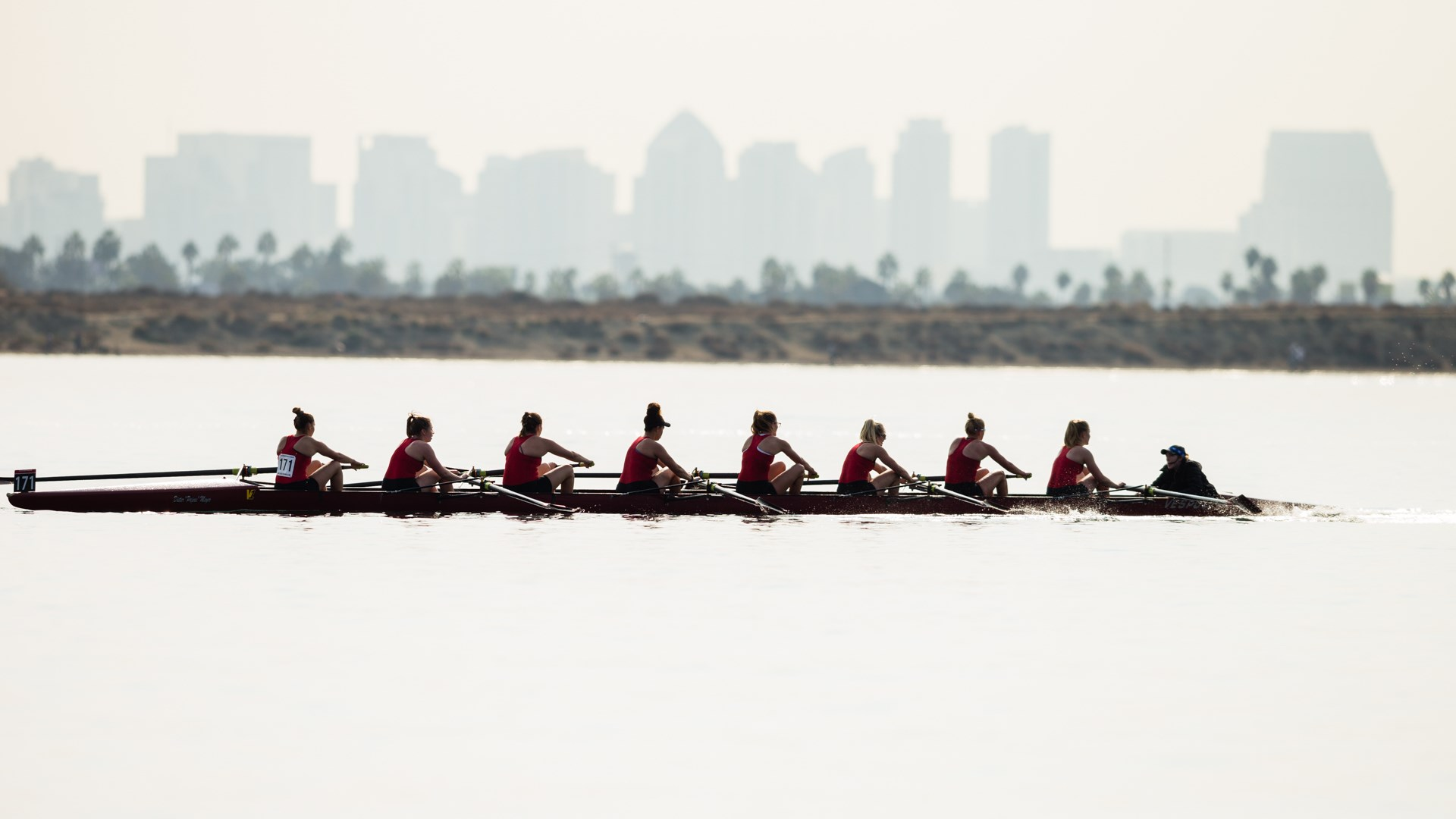 Rowing earns top five finishes at San Diego Fall Classic