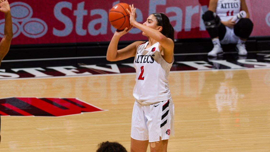 The San Diego State Lady Aztecs Lost A Tough Match To The