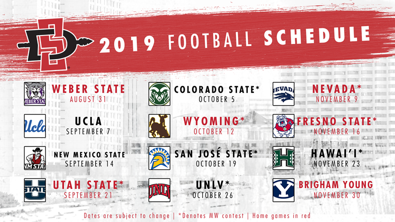 Fresno State Calendar 2020 Football Releases 2019 Schedule   SDSU Athletics